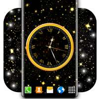 Dark Analog Clock ⭐  Black Amoled Live Wallpaper on 9Apps