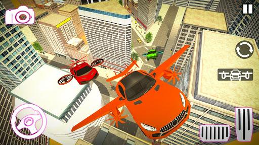 Real Light Flying Car Racing Simulator Games 2020 screenshot 8