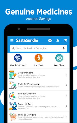 SastaSundar - Genuine Medicine Lab Test Doctor App screenshot 1