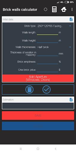 Construction Calculator - Materials Evaluation 4 تصوير الشاشة