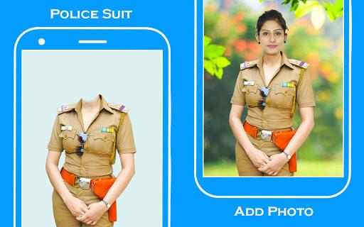 Women Police Suit Photo Editor screenshot 1