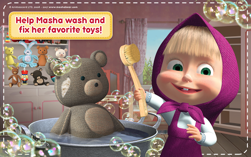 Masha and the Bear: House Cleaning Games for Girls screenshot 22