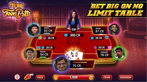 Tubb Teen Patti - Indian Poker - TTP 3 تصوير الشاشة