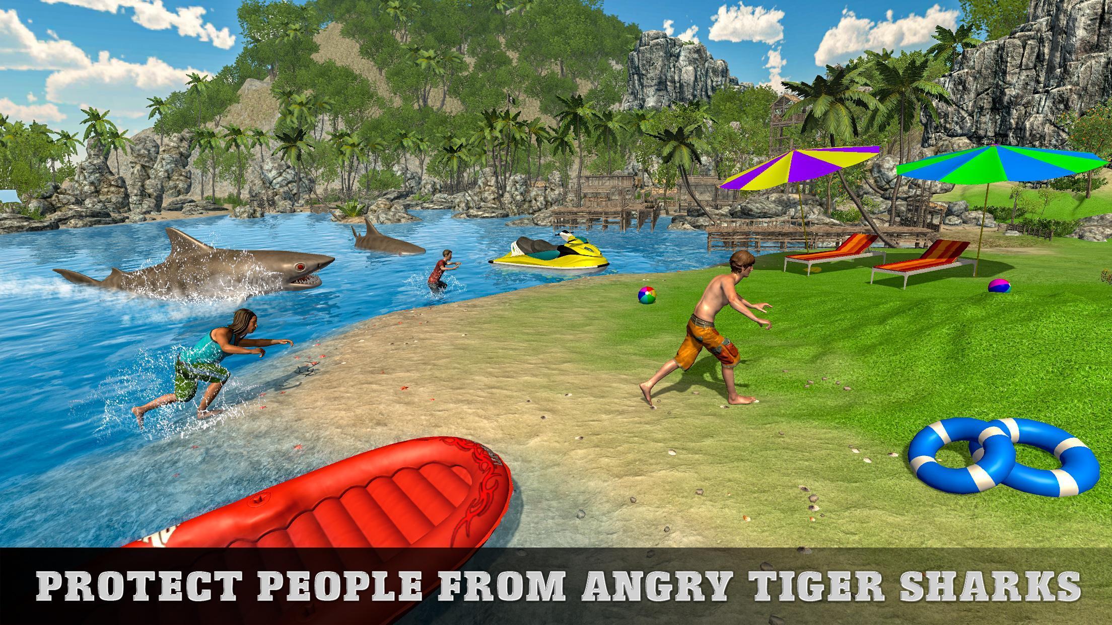 Tiger Shark Attack FPS Sniper Shooter 3 تصوير الشاشة