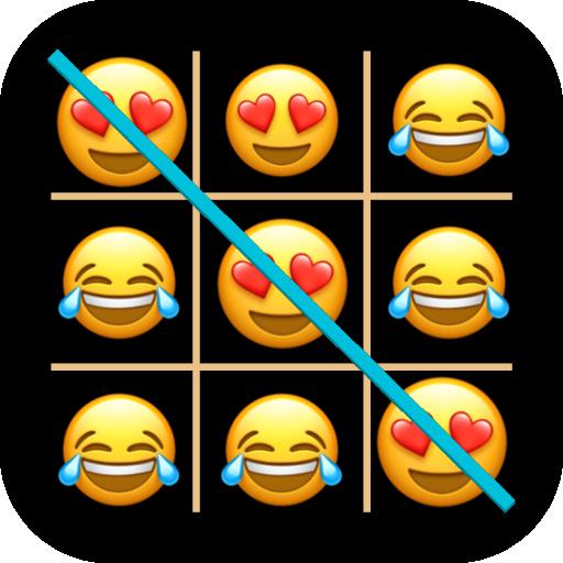 Tic Tac Toe Emoji - Online & Offline أيقونة