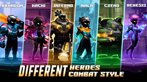 Cyber Fighters: League of Cyberpunk Stickman 2077 screenshot 2