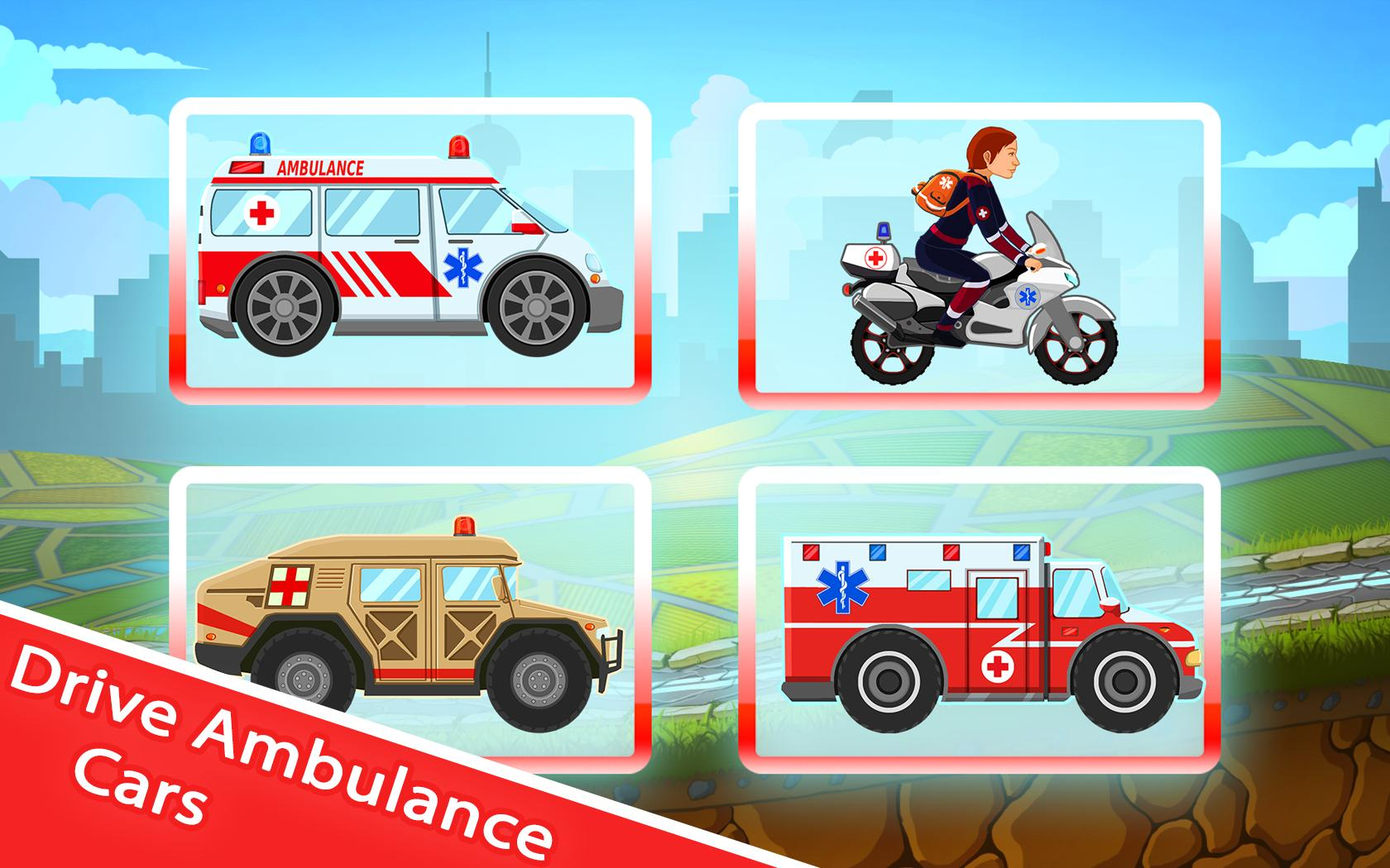Ambulance Kid Driving Game स्क्रीनशॉट 9