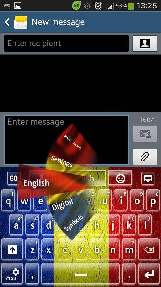 Romania Keyboard screenshot 1