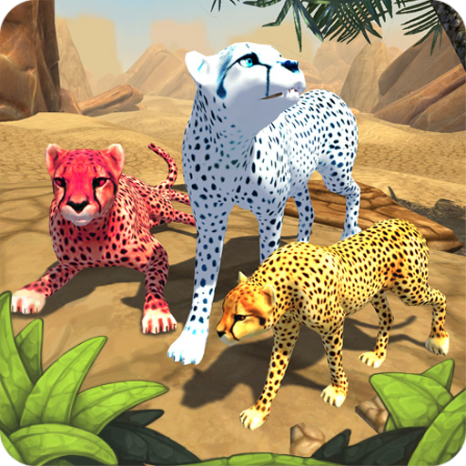 Cheetah Family Sim - Animal Simulator أيقونة
