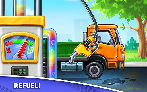 बच्चों के लिए ट्रक गेम - घर की इमारत  कार धोने स्क्रीनशॉट 10