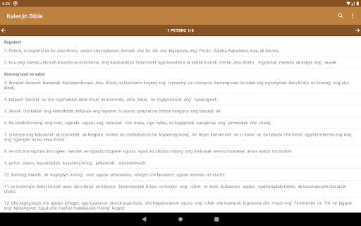 Kalenjin Bible - Old and New Testament 14 تصوير الشاشة