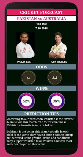 cricket forecast ( prediction, BBL ,BPL, IPL,PSL ) screenshot 1