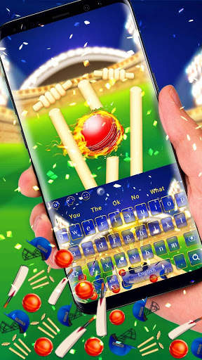 Cricket Champion Gravity Keyboard Theme screenshot 1