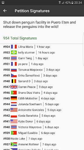 Petitions screenshot 3