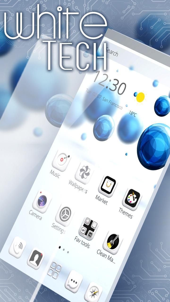 White Tech Theme  Wallpaper screenshot 3