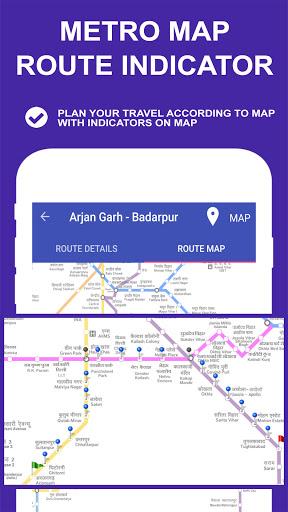 Delhi Metro Route Map and Fare 4 تصوير الشاشة