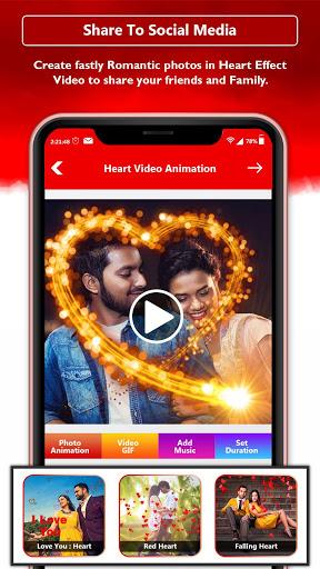 Heart Photo Effect Video Maker With Music screenshot 6
