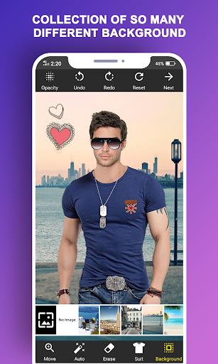 Man T-Shirt Suit Photo Editor screenshot 4