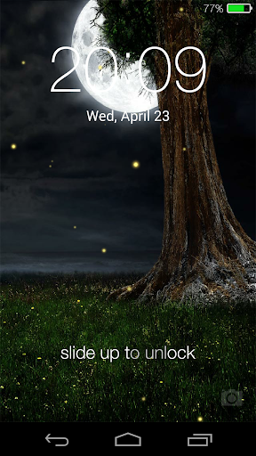 Fireflies lockscreen 10 تصوير الشاشة