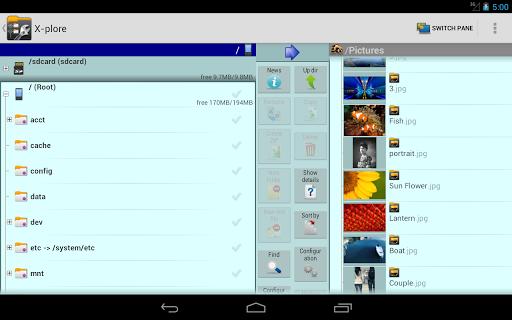 X-plore File Manager 9 تصوير الشاشة