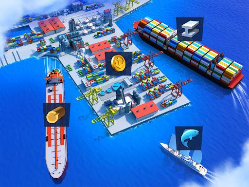 Sea Port: สร้าง Town & Ship Cargo ในซิม Strategy screenshot 3