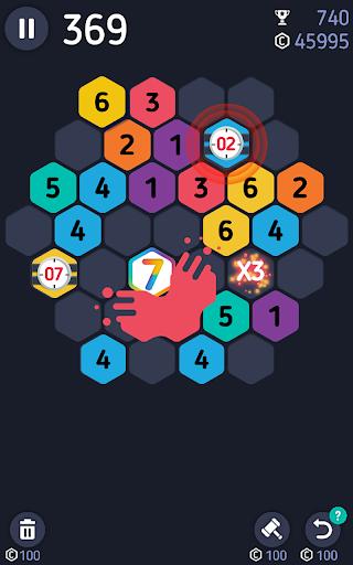 Make7! Hexa Puzzle 4 تصوير الشاشة
