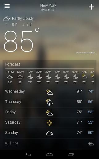 Yahoo Weather 7 تصوير الشاشة