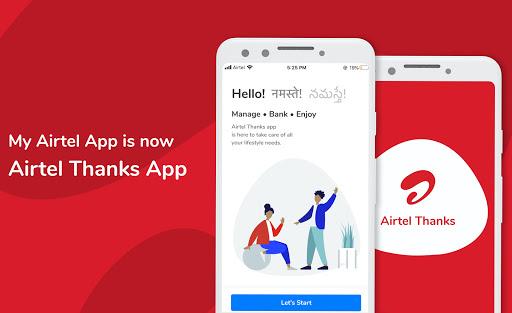 Airtel Thanks - Recharge, Bill Pay, Bank, Live TV screenshot 1