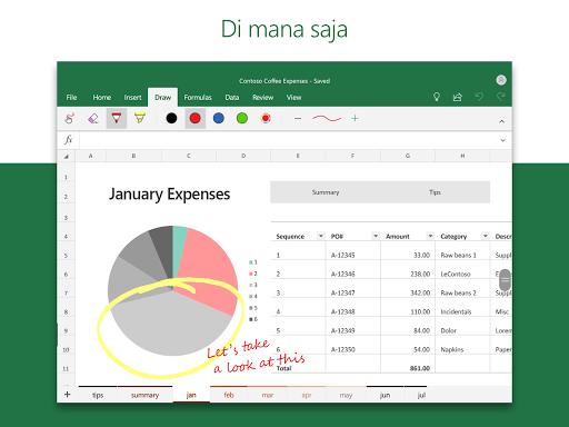 Microsoft Excel: Buka, Edit, & Buat Lembar Bentang screenshot 7