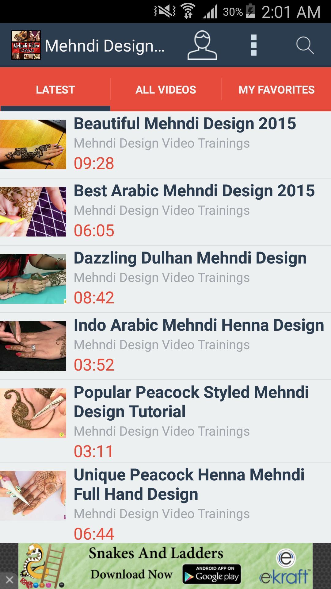 Mehndi Designs Video Trainings 2 تصوير الشاشة