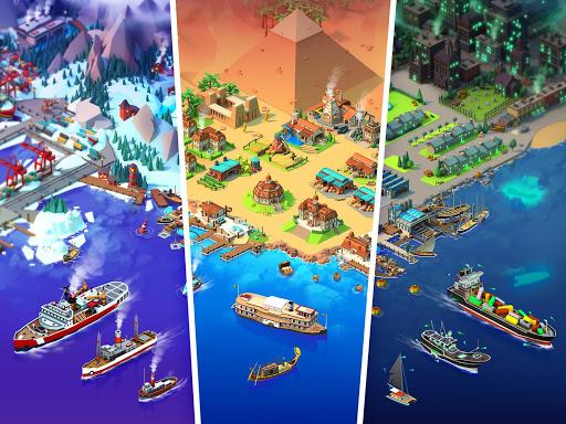 Sea Port: สร้าง Town & Ship Cargo ในซิม Strategy screenshot 6