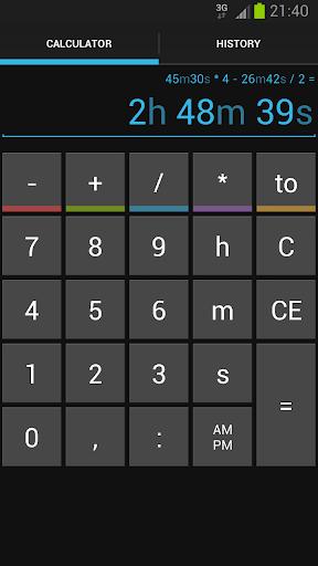Time Calc screenshot 1