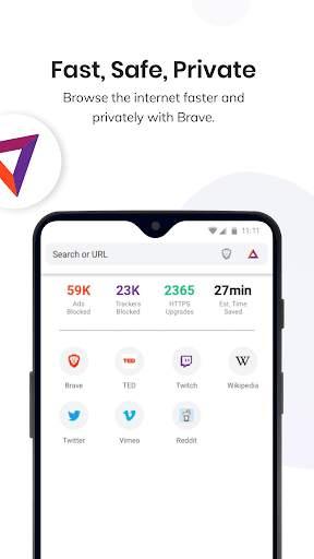 Brave Private Browser: Fast, safe web browser app screenshot 1