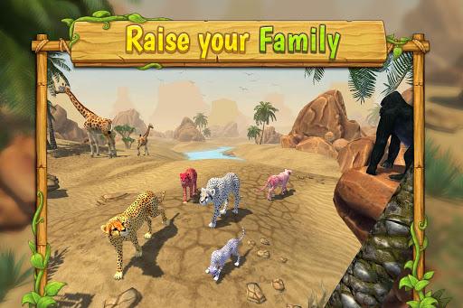 Cheetah Family Sim - Animal Simulator 1 تصوير الشاشة