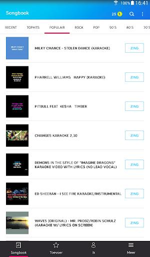 Karaoke - Zing onbeperkt karaoke - liedjes screenshot 7