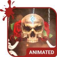 Rose Skull Animated Keyboard   Live Wallpaper on 9Apps