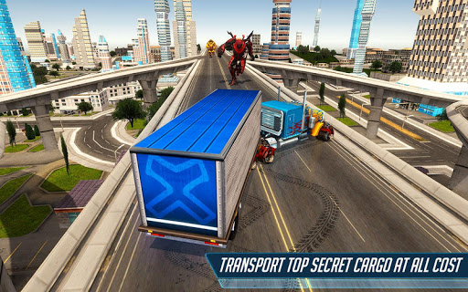 Grand Police Truck Robot War Transform Robot Games screenshot 15