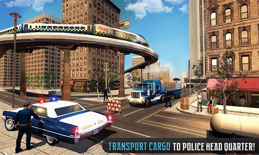 Police Train Shooter Gunship Attack : Train Games screenshot 1