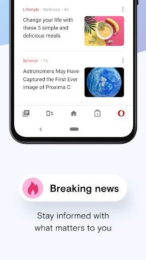 Opera Mini - fast web browser скриншот 7