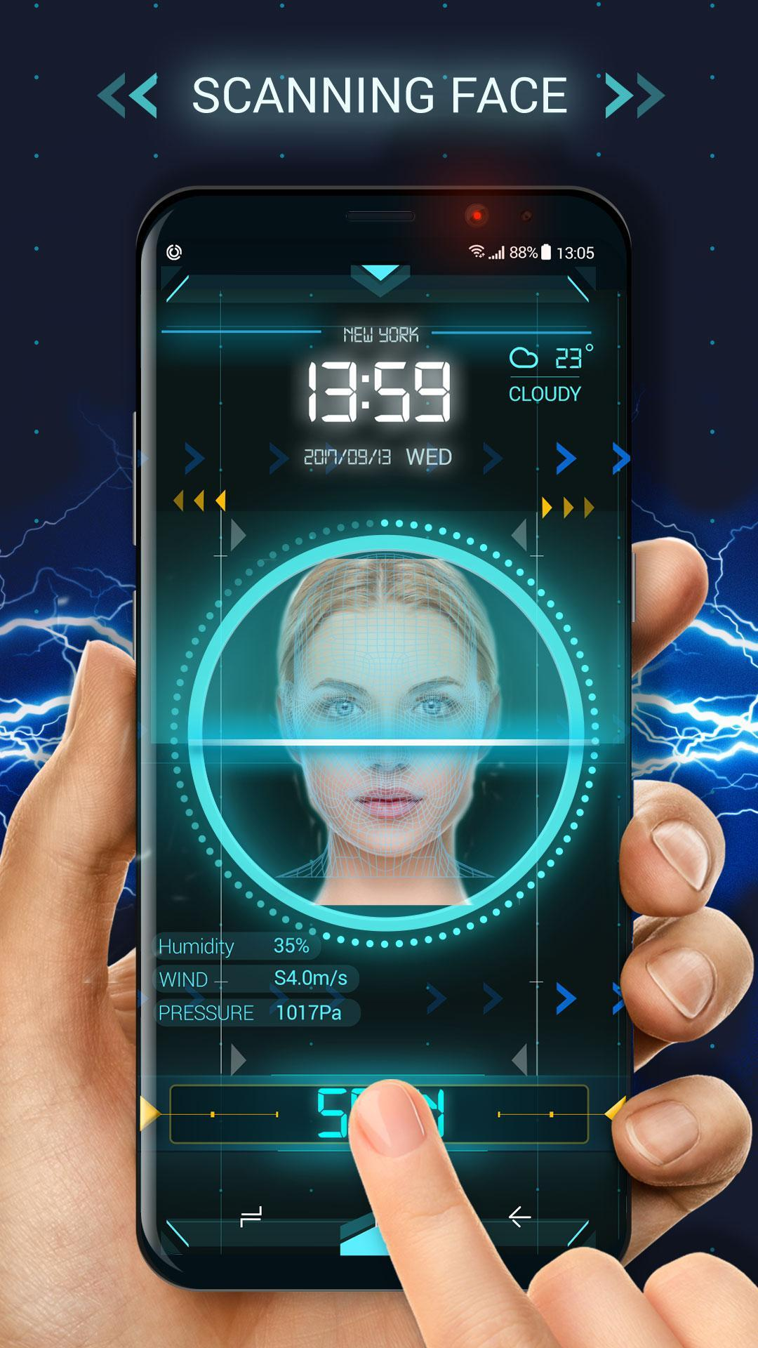 Face detection style lock screen for prank screenshot 2