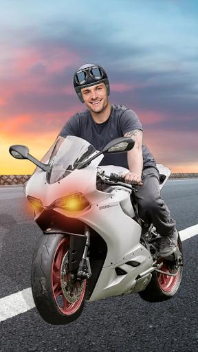 Man Bike Rider Photo Editor - photo frame screenshot 2
