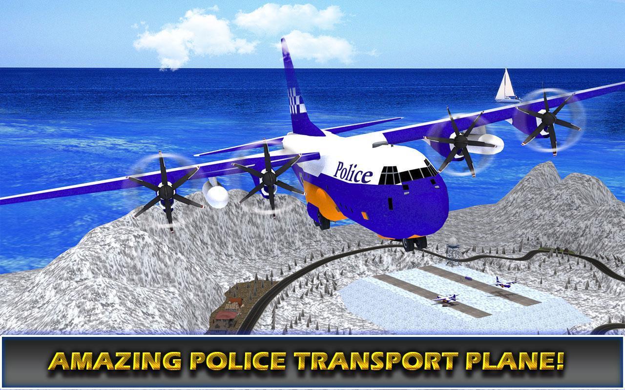 US Police Airplane Cop Dog Transporter Kids Games screenshot 14