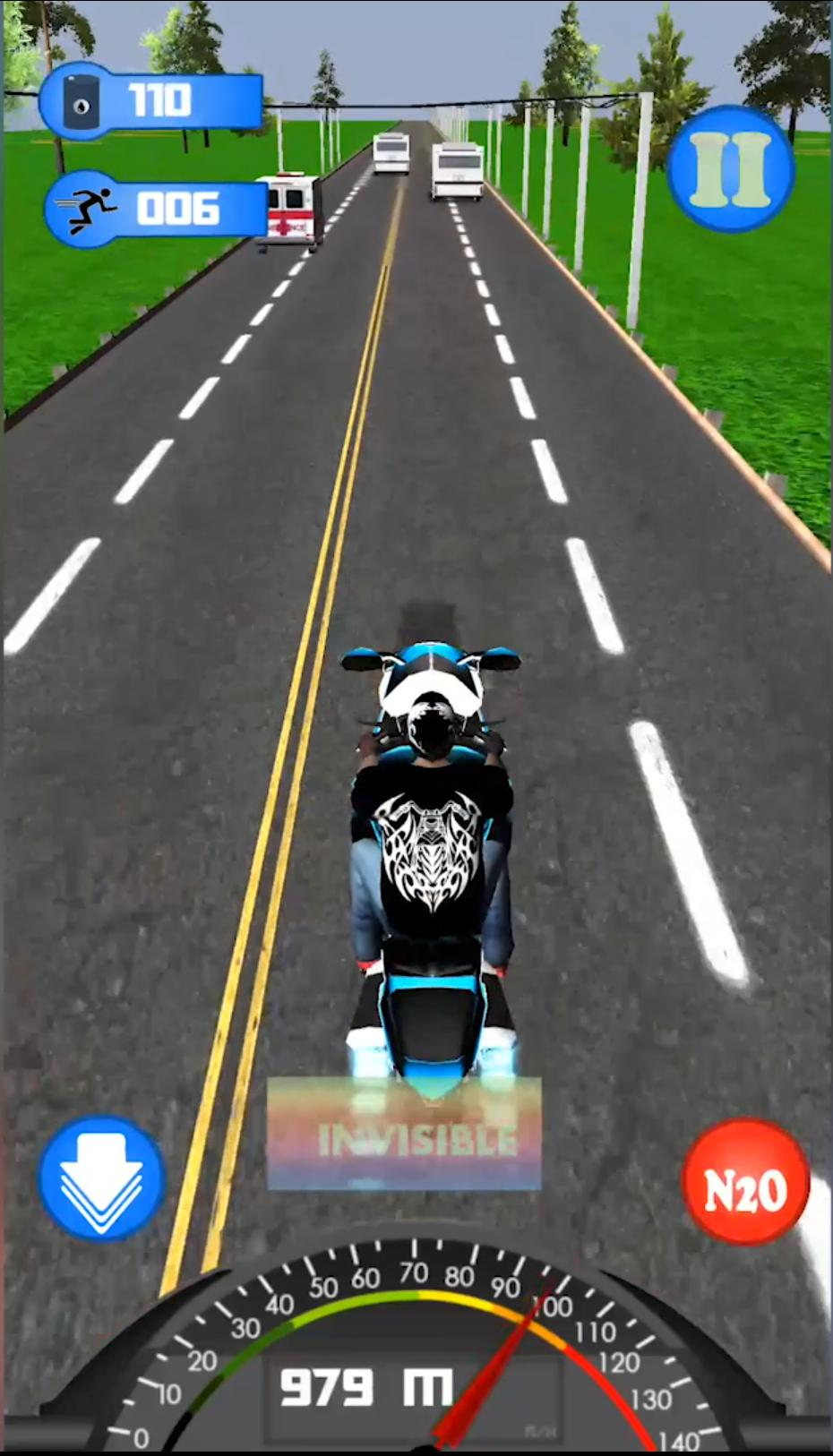Highway Dash 3D - Speed Street Bike Moto Racing 3 تصوير الشاشة