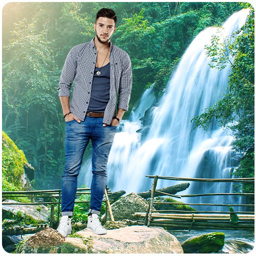 Photo Editor & Photo Frames: Water fall Background أيقونة