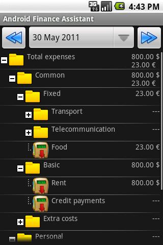 Finance Assistant for Android screenshot 2