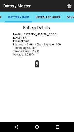 Battery Master 3 تصوير الشاشة