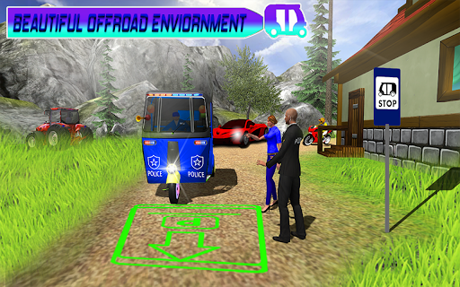Police Tuk Tuk Auto Rickshaw Driving Game 2021 screenshot 5