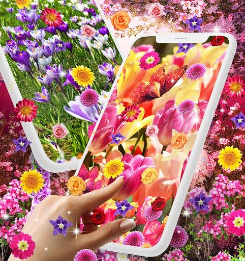 Flower garden live wallpaper 1 تصوير الشاشة