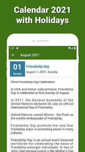 Calendar 2021 with Holidays screenshot 6