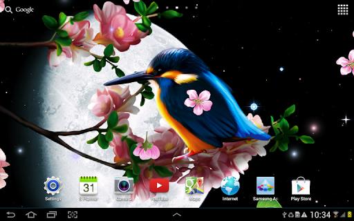 Sakura and Bird Live Wallpaper screenshot 6